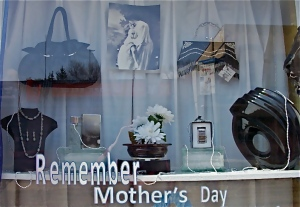 Mother's Day window close up